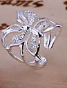 Pentru femei Inel de logodna - Cristal Fluture, Animal Lux, Deschis Ajustabil Argintiu Pentru Nuntă / Zilnic