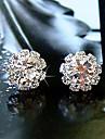 Pentru femei Cercei Stud Design Basic stil minimalist La modă costum de bijuterii Cristal Zirconiu Zirconiu Cubic Diamante Artificiale