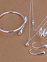 Pentru femei Seturi de bijuterii De Bază Modă Petrecere Zi de Naștere Logodnă Zilnic Argilă Picătură Lacrimă Inele Σκουλαρίκια Coliere