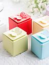 Cubic Hârtie cărți de masă Hârtie perlă Favor Holder Cu Cutii de Savoare