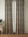 Rod Pocket Grommet Top Tab Top Double Pleat Two Panels Curtain Rococo, Jacquard Polyester Material Curtains Drapes Home Decoration