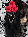 Bijuterii Lolita Stil Gotic Veșminte de cap lolita Bărbați Dame Lolita Accesorii Floral Accesoriu de Păr Dantelă Pietre Prețioase