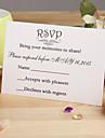 """Card Plat Invitatii de nunta-Cărți de răspuns Stil Floral Hârtie perlă 3 ½"""" x 5""""(9cm*12.5cm)"""