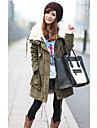 Femei Casual Artificial Fur Collar Coat
