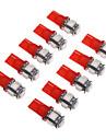 T10 Mașină Roșu SMD 5050Lumini de instrumente Lumini pentru numerele de înmatriculare Lumină marker laterală Lumini de semnalizare Lumini