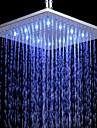 Contemporain Douche pluie Chrome Fonctionnalité for  Effet pluie LED , Pomme de douche