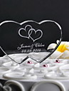 Cake Topper Classic Theme Hearts Crystal Wedding Anniversary With Gift Box