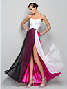 A-Line Princess Sweetheart Floor Length Chiffon Formal Evening / Military Ball Dress with Ruched Criss Cross Split Front by TS Couture®