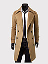 MEIKEPAIM magnifique double boutonnage Manteau long Tweed (Camel)