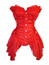 Γοτθική Λολίτα Κορσές Λευκό Μαύρο Κόκκινο Organza Βαμβάκι Αξεσουάρ Lolita