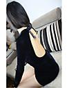 Fashiongirl femei Low Cut fara spate Hip Pack albastru rochie