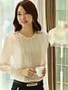 Femei Krean elegant Lustruite șifon T-Shirt