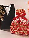 Floral rochie & Tuxedo Favor Box - Set de 12