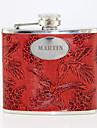 Personlig gåva Phoenix mönstrar röd 5oz PU läder versaler Flask