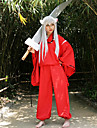 Inspirat de InuYasha Inu Yasha Anime Costume Cosplay Costume Cosplay Kimono Manșon Lung Vârf Pantaloni Centură Pentru Bărbătesc Feminin