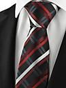 verificat cravată oficială roșu bărbați pentru nunta cadou de vacanță