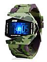SKMEI Bărbați Ceas Militar Ceas de Mână Ceas digital Piloane de Menținut Carnea LED LCD Calendar Cronograf Rezistent la Apă alarmă Silicon