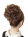 Cheveux humains brun clair Curly Hair Extensions Rubber Band Tied