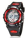 Bărbați Piloane de Menținut Carnea Ceas digital Ceas de Mână Alarmă Calendar Cronograf LCD Cauciuc Bandă Charm Negru
