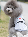 Katt Hund T-shirt Hundkläder Andningsfunktion Gulligt Ledigt/vardag Födelsedag Hjärtan Grå Kostym För husdjur