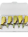 5st åter gyllene metall spik konstformer för akryl och uv gel tips