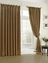 Rod Pocket Grommet Top Tab Top Double Pleat Two Panels Curtain Modern Solid Living Room Polyester Material Blackout Curtains Drapes Home