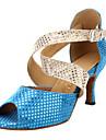 Femei Starry Suede Cross curea sandale de dans latin pantofi