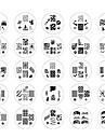 25pcs Negle kunst Manicure Pedicure Metal Abstrakt / Klassisk Daglig / Stempling Plate