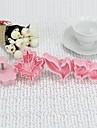 Plast 3D Leaf Shaped Cookie Mould Set med 4 st