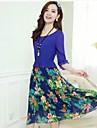 Pentru femei Swing Rochie - Plisată, Floral Midi