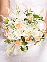 """Flori de Nuntă Rotund Trandafiri Buchete Nuntă Mătase Portocaliu 10.24""""(Approx.26cm)"""