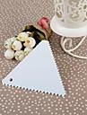 Plast Triangle Butter Skrapa med tandade tänder, 10x10x0.2cm
