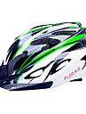 FJQXZ EPS + PC Grön och svart integrerat gjuten Cykelhjälm (18 Vents)