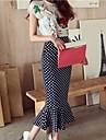 Pentru femei Costume de epocă Fishtail zburli (Bluze + fusta)