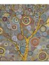 Hang målad oljemålning HANDMÅLAD - Blommig / Botanisk Samtida Duk