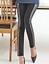 Femei completa Lungime Tight Costum de bumbac pantaloni de piele artificiala