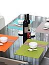 Pur și simplu moda Stil asortate de culoare dungi placemat pentru cina, L45cm x W 30 cm, PVC rezistent la căldură
