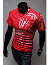 Gât etnice Print Fashion T-Shirt pentru bărbați