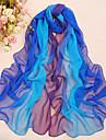 Femei Elegant albastru Vânt Ziua ecran solar total șifon Eșarfă