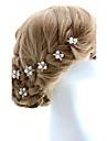 Femei Fata cu Flori Aliaj Imitație de Perle Diadema-Nuntă Ocazie specială Ac de Păr 2 Piese