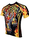 ILPALADINO Homme Manches Courtes Maillot Velo Cyclisme Animal Bande dessinee Cyclisme Maillot Hauts / Top Respirable Sechage rapide Resistant aux ultraviolets Des sports 100 % Polyester VTT Velo tout