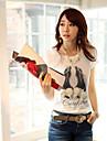 Femei margele pantofi de model de imprimare T-shirt
