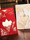 """Pliat lateral Invitatii de nunta 50-Set de Invitații Stil Mire & Mireasă Hârtie Cretată 7 1/5""""×5"""" (18.4*12.8cm)"""