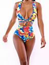 Women's  Sexy Deep V  Floral Print Swimwear