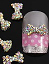 10pcs cristal ab strass perles Noeud papillon alliage 3d nail art decoration