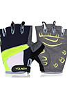 koraman unisex cykelhandskar Finger grön skydd pad halk svart halv finger handskar
