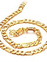 Bărbați Lănțișoare Placat Auriu 18K de aur costum de bijuterii Bijuterii Pentru Nuntă Petrecere Zilnic Casual Cadouri de Crăciun