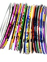 30 pcs Nail Jewelry / Foil Stripping Tape Fashion Lovely Daily Nail Art Design