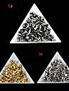 100pcs 4 * 6mm décorations mini art rivet d'ongle (couleur assorties)