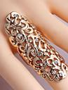 exagerat gol în sculptură inel floare Diamante pentru femei (mai multe culori)